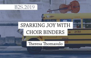 Sparking Joy with Choir Binders