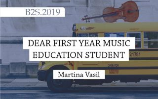 dear first year music education student