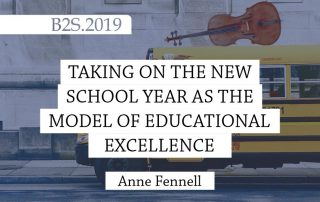 Taking on the New School Year as the Model of Educational Excellence blog post