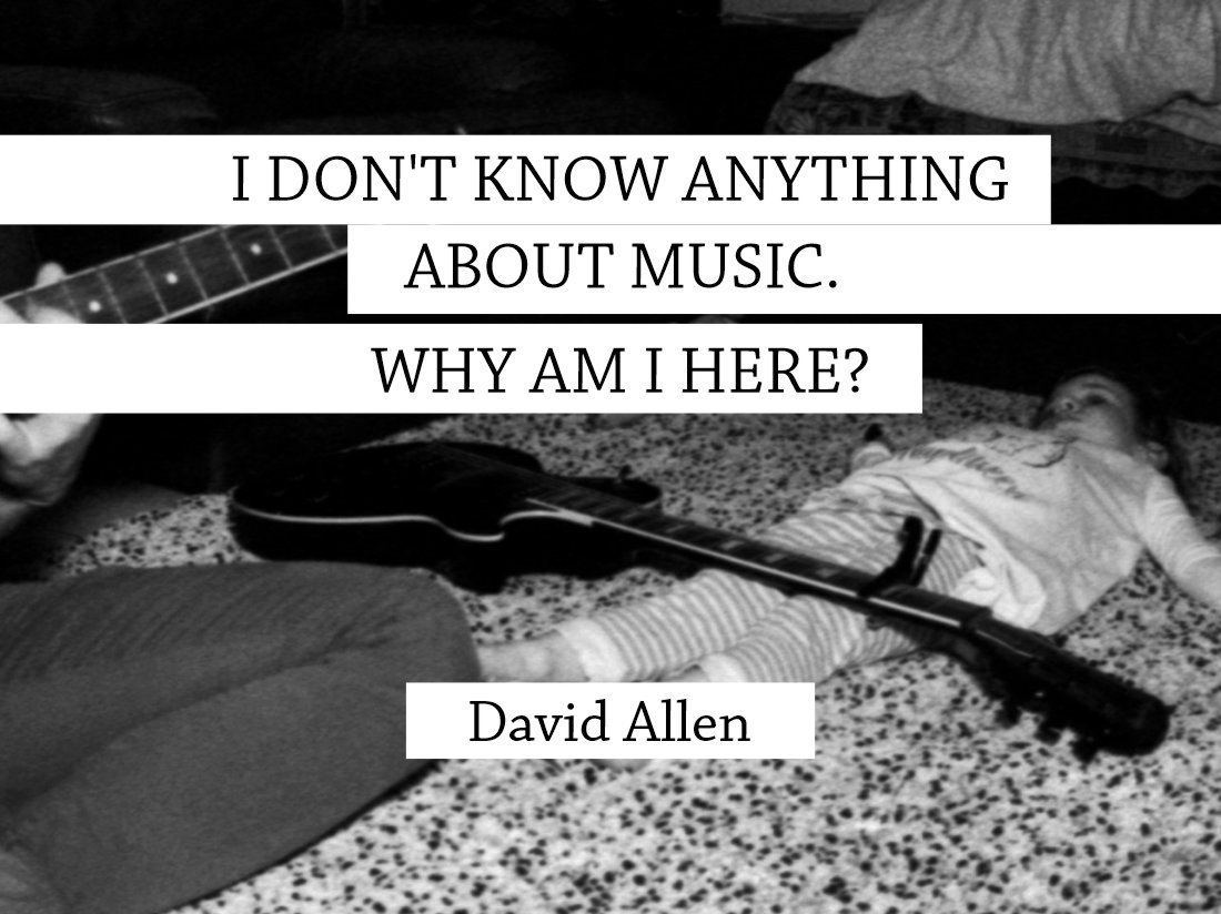 I don't know anything about music