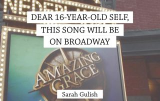 dear 16-year-old self, this song will be on broadway