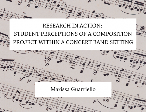 Research in action: Student perceptions of a composition project within a concert band setting