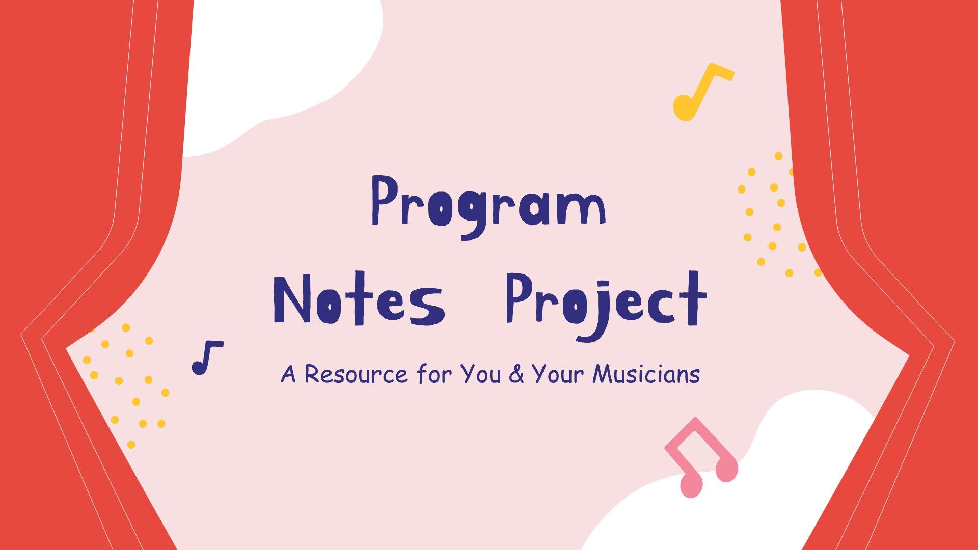 Music Program Notes Project