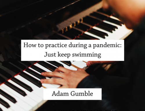 How to practice during a pandemic: Just keep swimming