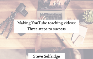 Making YouTube teaching videos