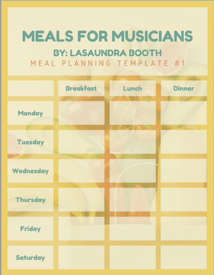 Meals for Musicians