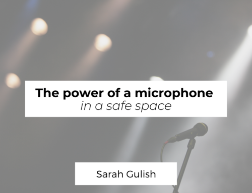 The power of a microphone in a safe space