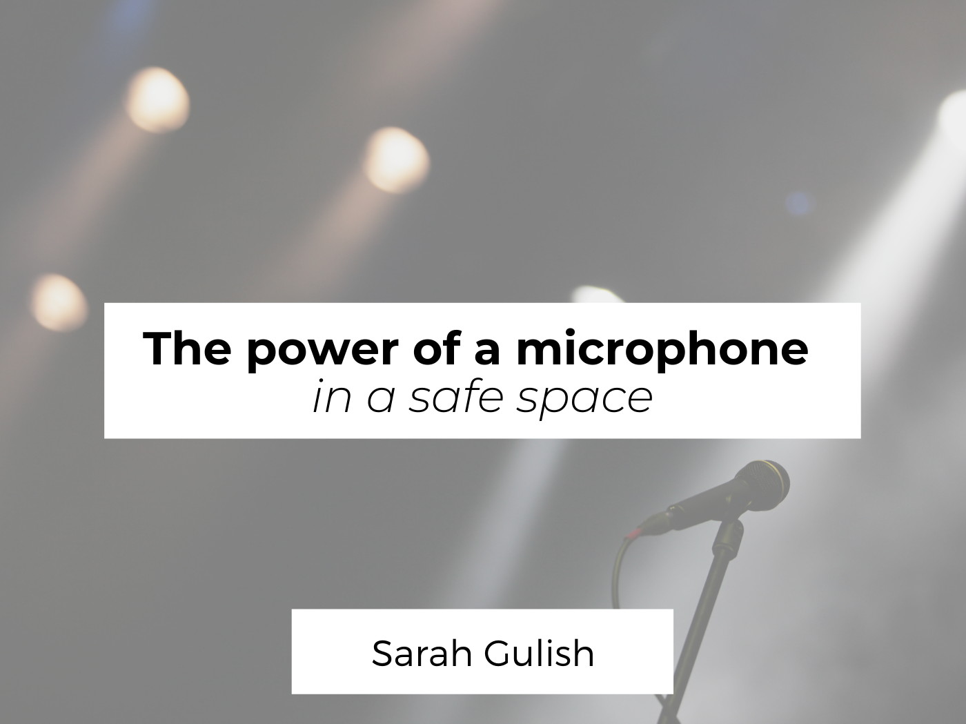 the power of a microphone
