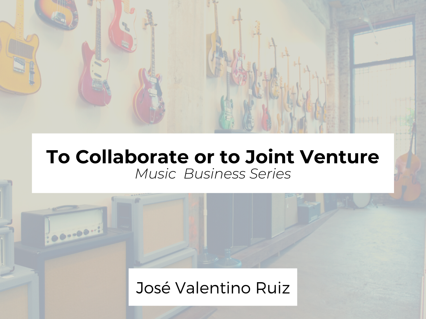 to collaborate or joint venture
