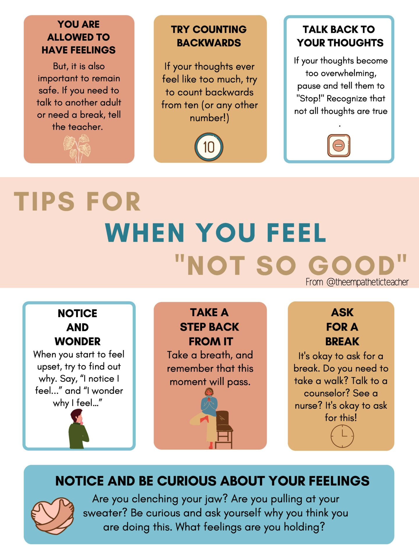 tips for when you feel not so good